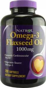 Omega 3 Flaxseed Oil 1000 мг 200 капсул